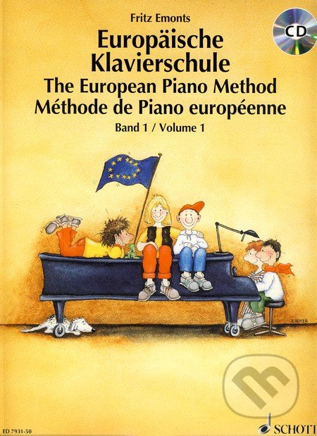Europäische Klavierschule/The European Piano Method + CD - Fritz Emonts