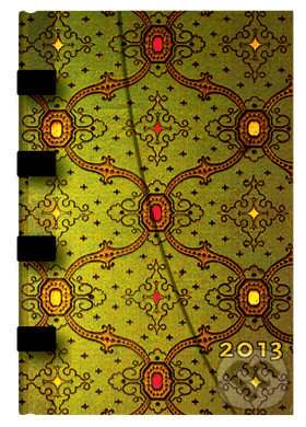 Paperblanks - diár 2013 - French Ornate Vert Mini -
