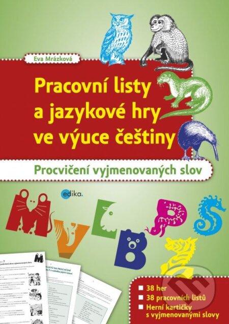 Kniha Pracovni Listy A Jazykove Hry Ve Vyuce Cestiny Eva Mrazkova