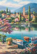 Kim: Village lake afternoon -