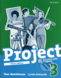 Project 3 - Pracovný zošit  s CD - ROMom - Tom Hutchinson, Lynda Edwards