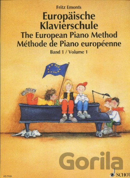 Kniha Europaische Klavierschule/The European Piano Method - Fritz Emonts