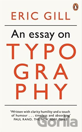 Kniha An Essay on Typography - Eric Gill