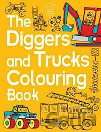 Kniha The Diggers and Trucks Colouring Book - Chris Dickason