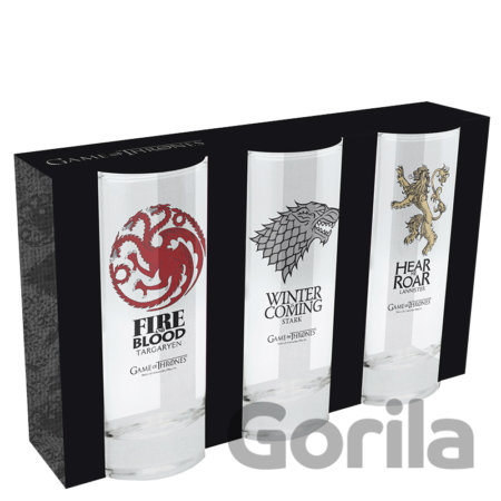 Sklenice Game of Thrones set 3ks