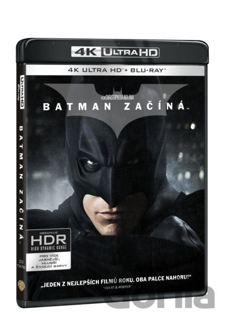 UltraHDBlu-ray Batman začíná Ultra HD Blu-ray (UHD + BD + bonus disk) - Christopher Nolan