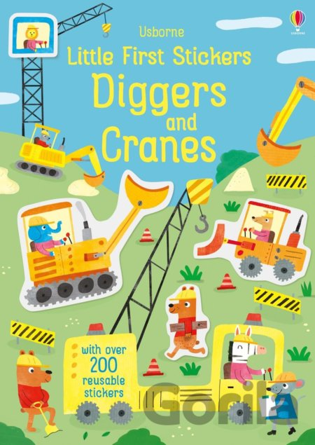 Kniha Little first stickers Diggers and Cranes - Hannah Watson