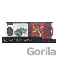 Hrnčeky Game of Thrones set 2ks: Stark & Lannister