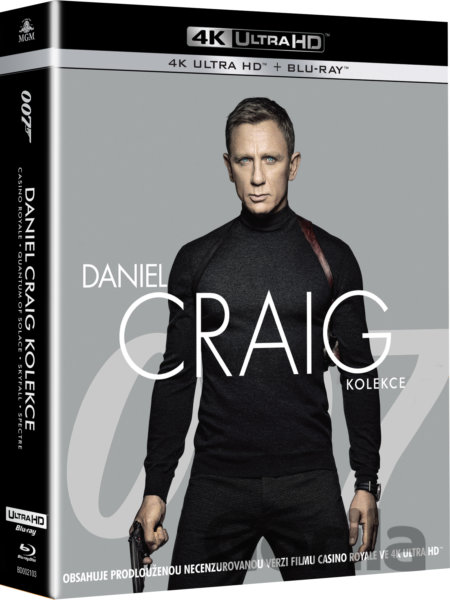 Blu-ray James Bond Daniel Craig Ultra HD Blu-ray (4UHD+4BD) - Martin Campbell, Marc Forster, Sam Mendes
