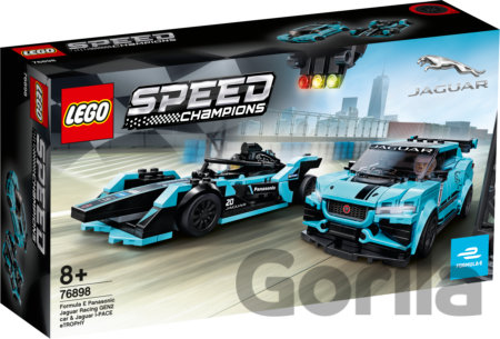 Hra LEGO Speed Champions 76898 Formula E Panasonic Jaguar Racing GEN2 car & Jaguar I-PACE eTROPHY