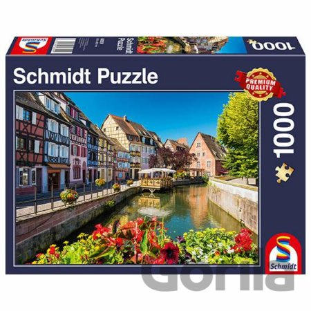 Puzzle Little village with half-timbered houses