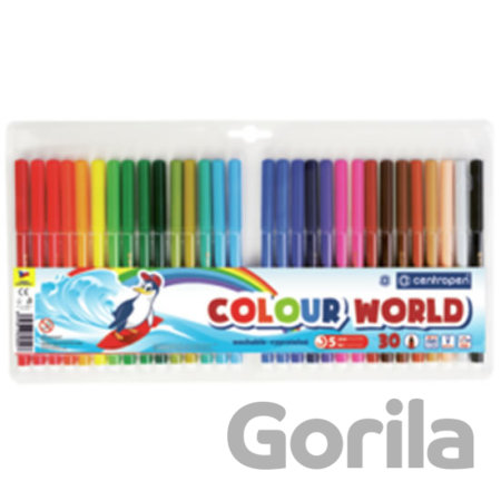 Centropen Fixy COLOUR WORLD 7550 trojboké, sada 30 barev