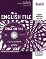 New English File Beginner Workbook with Key+ MultiRom Pack (Oxenden Clive, Latha