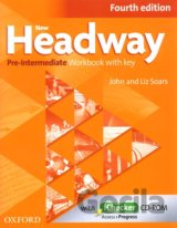New Headway Fourth Edition Pre-Intermediate Workbook with Key + iChecker CD (Joh