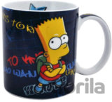 Porcelánový hrnek The Simpsons/Simpsnovi: Bart (objem 320 ml) bílý porcelán [0109507] CurePink
