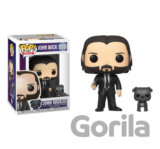 Funko POP Movies: John Wick- John in Black Suit w/ Dog