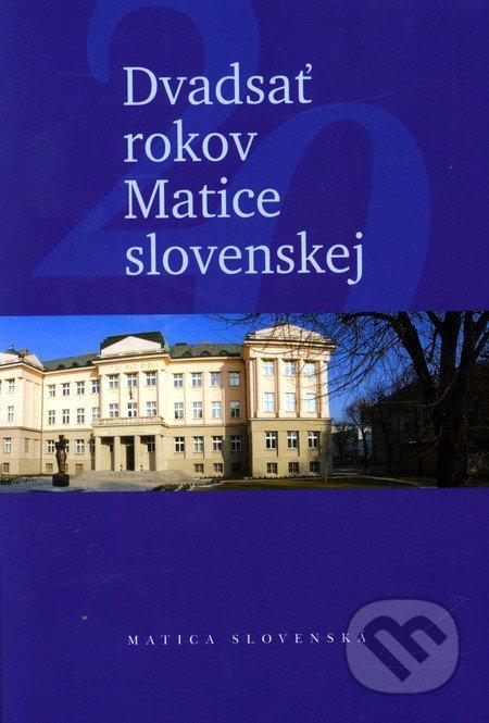 Interdrought2020.com Dvadsať rokov Matice slovenskej Image