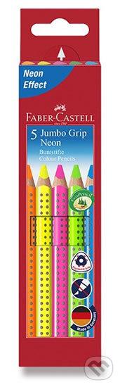 Faber - Castell Pastelky trojhranné Jumbo Grip - Neon 5 ks - Faber-Castell