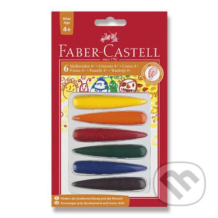 Faber - Castell Plastové pastelky do dlaně 6 ks - Faber-Castell
