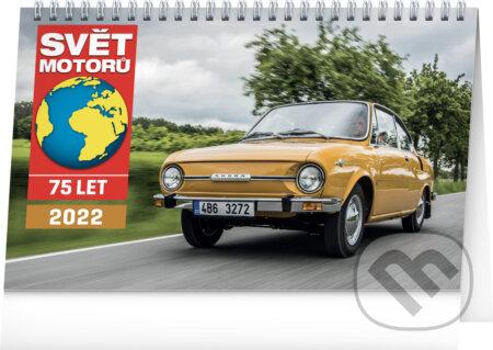 Stolní kalendář Svět motorů 2022 - Presco Group
