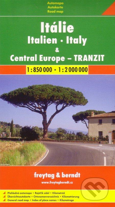 Itálie, Central Europe - tranzit 1:850 000 1:2 000 000 - freytag&berndt