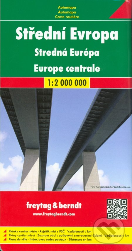 Střední Evropa 1:2 000 000 - freytag&berndt