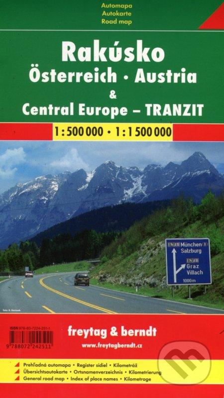 Fatimma.cz Rakúsko - Central Europe - Tranzit 1.500 000, 1:1 500 000 Image