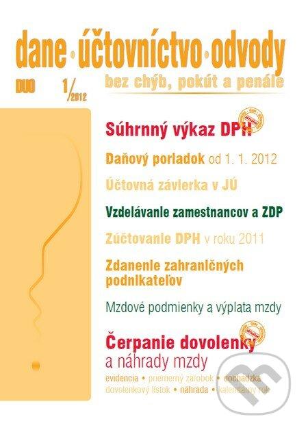 Fatimma.cz Dane, účtovníctvo, odvody 1/2012 Image