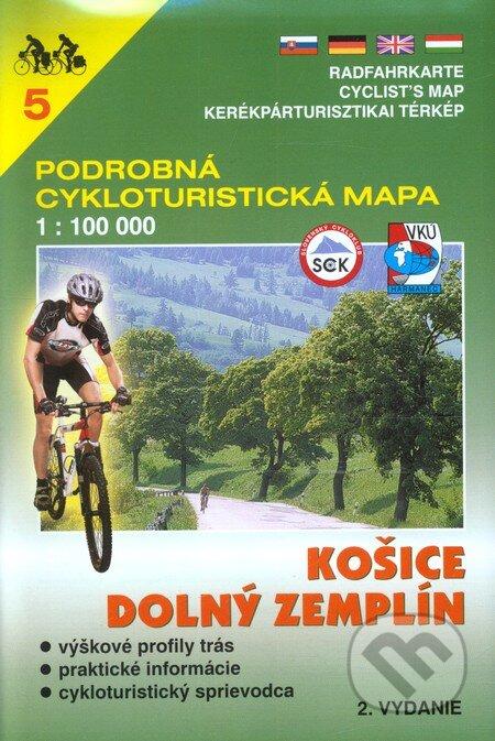 Peticenemocnicesusice.cz Košice,Dolný Zemplín 1:100 000 - cykloturistická mapa 5 Image