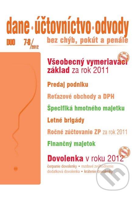 Excelsiorportofino.it Dane, účtovníctvo, odvody 7 - 8/2012 Image