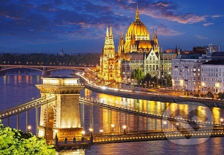 Budapest view at dusk -