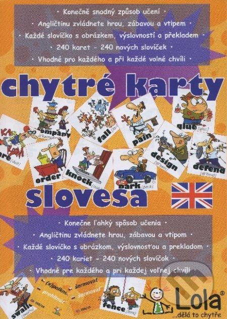 Chytré karty: Angličtina - Slovesa - Chytrá Lola