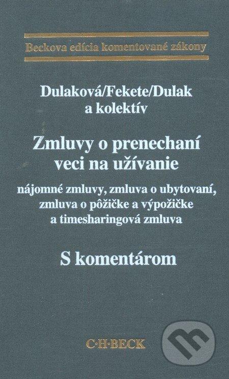 Fatimma.cz Zmluvy o prenechaní veci na užívanie - s komentárom Image