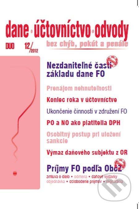 Fatimma.cz Dane, účtovníctvo, odvody 12/2012 Image