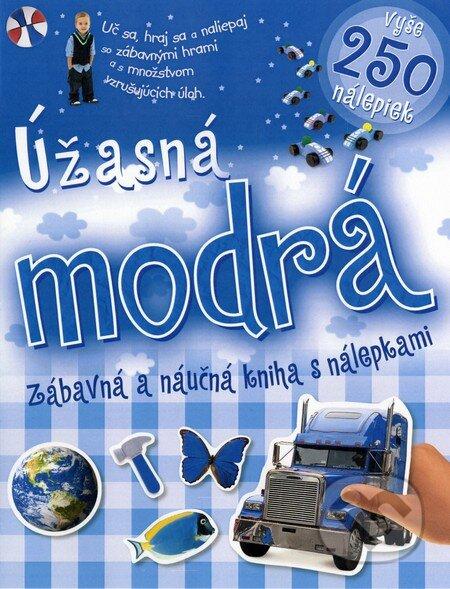 Venirsincontro.it Úžasná modrá zábavná a náučná kniha s nálepkami Image