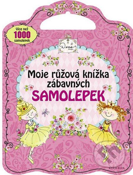 Moje růžová knížka zábavných samolepek -