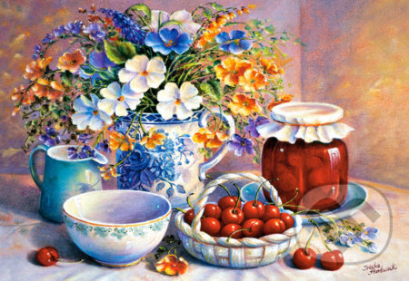 Cherries in China Basket -