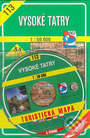 Fatimma.cz Vysoké Tatry - turistická mapa č. 113 (+CD) Image