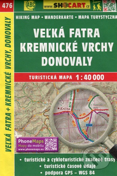 Excelsiorportofino.it Veľká Fatra, Kremnické vrchy, Donovaly 1:40 000 - turistická mapa  č. 476 Image