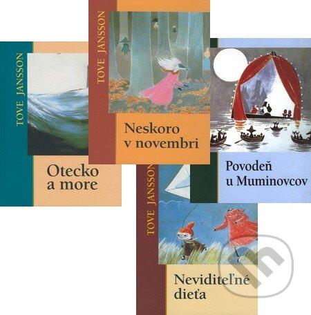 Peticenemocnicesusice.cz Povodeň u Muminovcov + Neviditeľné dieťa + Neskoro v novembri + Otecko a more (kolekcia štyroch titulov) Image