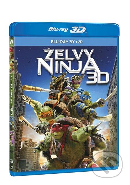 Želvy Ninja 3D Blu-ray3D