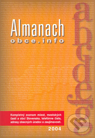 cf348e98a Kniha: Almanach obce.info (Združenie pre rozvoj a zviditeľnenie ...
