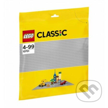 LEGO Classic - Sivá podložka na stavanie - LEGO