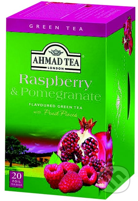 Zelený čaj malina a granátové jablko - AHMAD TEA