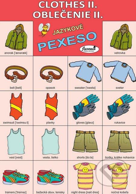 18ae50d4a2 Jazykové pexeso  Clothes II.   Oblečenie II. (Juvenia Education ...