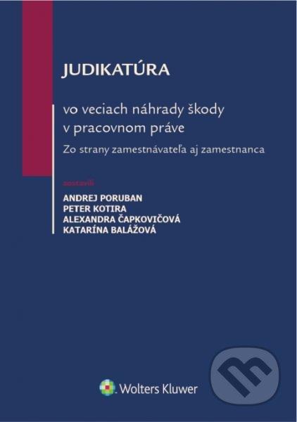 Fatimma.cz Judikatúra vo veciach náhrady škody v pracovnom práve Image