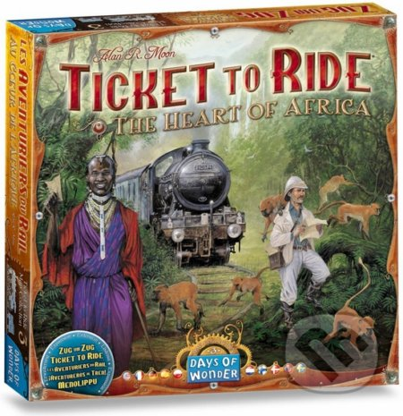 Ticket to Ride Map Collection: The Heart of Africa - Alan R. Moon