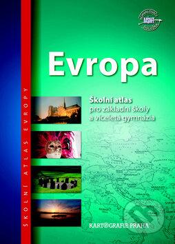 Evropa - Školní atlas - Kartografie Praha