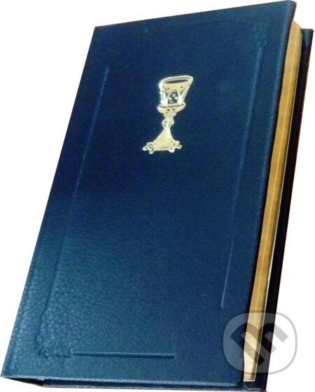 Fatimma.cz Evanjelický spevník (čierna kožená väzba so zlatou oriezkou a s kalichom, ostré rohy) Image