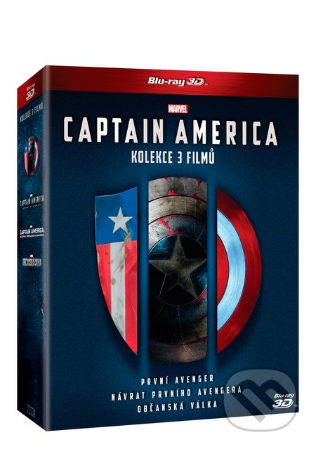 Captain America 3D trilogie 1.-3. - Joe Johnston, Anthony Russo, Joe Russo